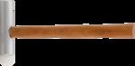 Aluminium-Kunststoffhammer extra langer Kopf 300 g - Kopf