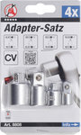 Adapter verloop set, 4 delig