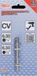 Adapter voor boormachines aandrijving buitenzeskant 6,3 mm (1/4) / uitgaande buitenvierkant 6,3 mm (1/4)