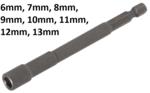Steckschlussel-Einsatz Sechskant, extra lang fur Bohrmaschinen Antrieb Außensechskant (1/4) SW