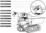 Mini-Raupendumper mit Kipper 6,5 PS
