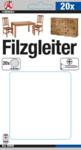 Filzgleiter-Satz   mit Schrauben   Ø 24 mm   20-tlg