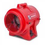 Mobiler Ventilator 750W, mit 10m flexiblem Schlauch und Schlauchhalter. Komplett aus unzerbrechlichem Polyethylen