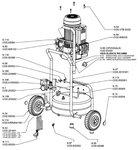 Mobiler Baukompressor hds bx 10 bar, 24 Liter