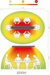 Infrarot-Strahler ohne Licht Hot-Top 3200W