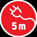 Gummi-Brenner IP54 5m H07RN-F 2x1.0 100W E27