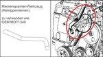 Motor-Einstellwerkzeug-Satz für Renault, Volvo, Ford 16V, 20V Benzin