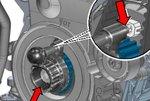 Kurbelwellen-Arretier-Werkzeug für VAG 1.4, 1.6, 2.0 TDI (EA288)
