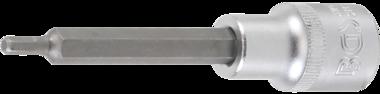 Bit-Einsatz Lange 100 mm Antrieb Innenvierkant 12,5 mm (1/2) Innensechskant