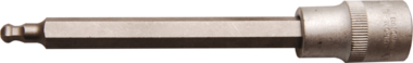 Bit-Einsatz Lange 140 mm Antrieb Innenvierkant 12,5 mm (1/2) Innensechskant mit Kugelkopf