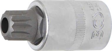 Bit-Einsatz Antrieb Innenvierkant 12,5 mm (1/2) Innenvielzahn (fur XZN) mit Bohrung M16