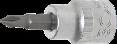 Bit-Einsatz Antrieb Innenvierkant 10 mm (3/8) Kreuzschlitz