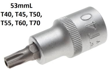 1//2 53 mm lang 12,5 Bit-Einsatz M12 Innenvielzahn