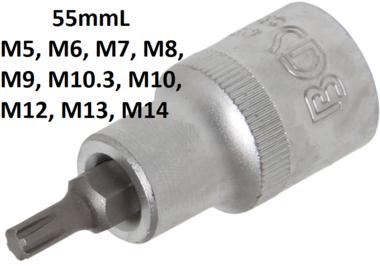 Bit-Einsatz Antrieb Innenvierkant (1/2) Keil-Profil (fur RIBE)