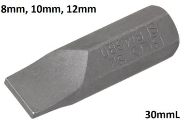 Bit Antrieb Außensechskant 8mm (5/16) Schlitz