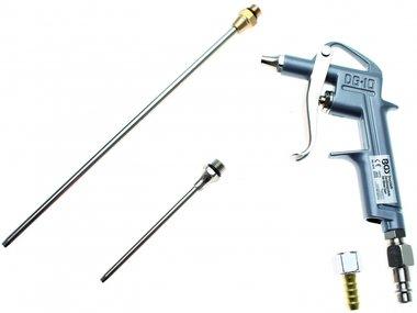 Air Blow Gun Aluminium Druckguss mit 3 Attachments