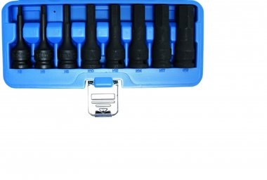 8-teiliges Impact Bit Socket Set, int. verhexen. 5-19 mm, 1/2