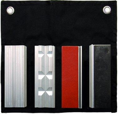 8-teiliges Tisch-Schraubstock-Schutzblech-Set, 100 mm