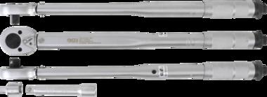 Drehmomentschlüssel + Adapter + Verlängerung 12,5 mm (1/2) 28 - 210 Nm