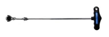 Gelenkknarre mit T-Griff, abwinkelbar Abtrieb Außenvierkant 6,3 mm (1/4)