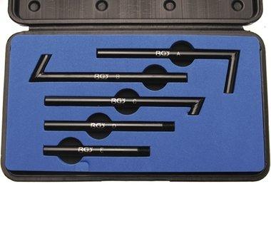 Adaptersatz 5-tlg. für Öl-Einfüllgerät Art. 8056