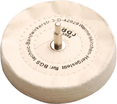 Polierscheibe mit Spanndorn 6 mm