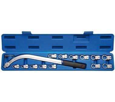 Spanrol schroefsleutel Set 12 - pt 12-19 mm & E - type E10 - E18