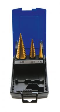 Stufenbohrer-Satz, Titan nitriert, 4-30 mm