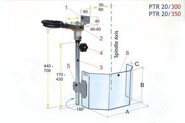 Schutzabdeckung für große Bohrer PTR 20/300, 3,90kg