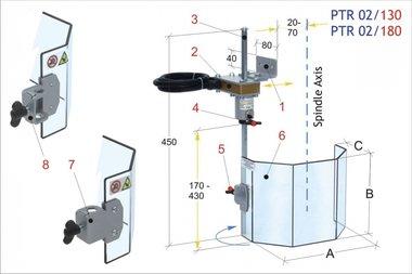 Hütet traditionellen Bohrer PTR02 / 130 2,50kg