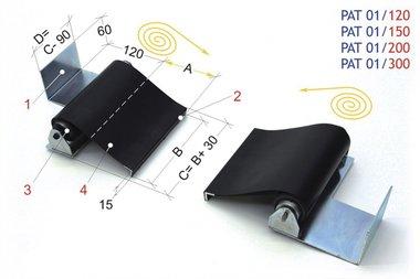 Blinde für Drehautomaten 1500mm, -2,20kg