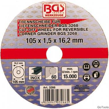 Trennscheibe für BGS Tiefenschneider Ø 105 x 1,5 x 16,2 mm
