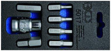 Schraubendreher-Bit-Satz | Antrieb Außensechskant 10 mm (3/8) | Innensechskant | 7-tlg.