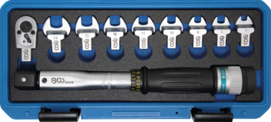 Drehmomentschlüssel-Satz 6,3 mm (1/4) 6 - 30 Nm 10-tlg