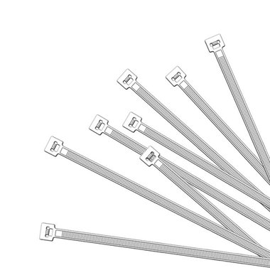 Kabelbinder 350x4,5mm 1000 Stück weiß