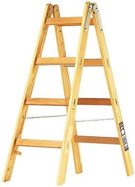 Holzleiter 2x4 Sprossen Höhe der Rahmenleiter 1,2m