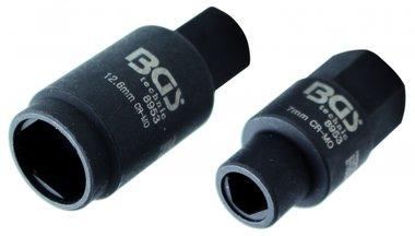 3-pt. Steckdosen für Einspritzpumpen, 7 & 12,6 mm