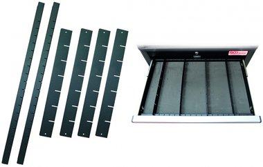 Schubladenteiler für Werkstattwagen PROFI 6-tlg