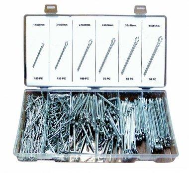 Sortiment Splinte verzinkt 1.6-4.0mm 555 teilig