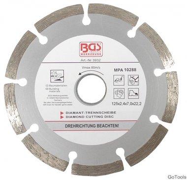 Segment-Trennscheibe für Trockenschnitt, 125 mm