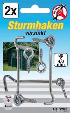 Sturmhaken, 4,0 x 80 mm, 2-tlg.