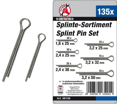 Splinte-Sortiment, 135-tlg.