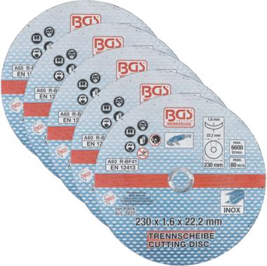 Trennscheiben für Edelstahl 230 x 1,6 mm, 5 Stk