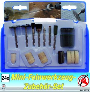 Mini-Feinwerkzeug-Zubehörset, 24-tlg.