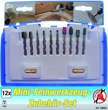 Mini-Feinwerkzeug-Zubehörset, 12-tlg