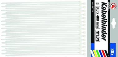 30-teiliges Kabelbinder-Set, 8,0 x 400 mm