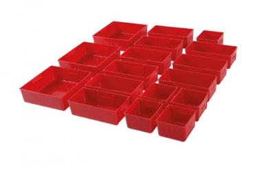 Kunststoff-Trays für Werkstattwagen 17-tlg.