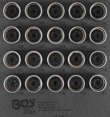 Felgenschloss Sockelsatz für Opel, Vauxhall (Version A) 20 Stück