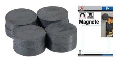 Magnet Set Keramik Dia 18 mm 8 Stück