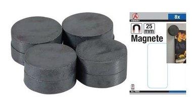 Magnet Set Keramik Durchmesser 25 mm 8 Stück